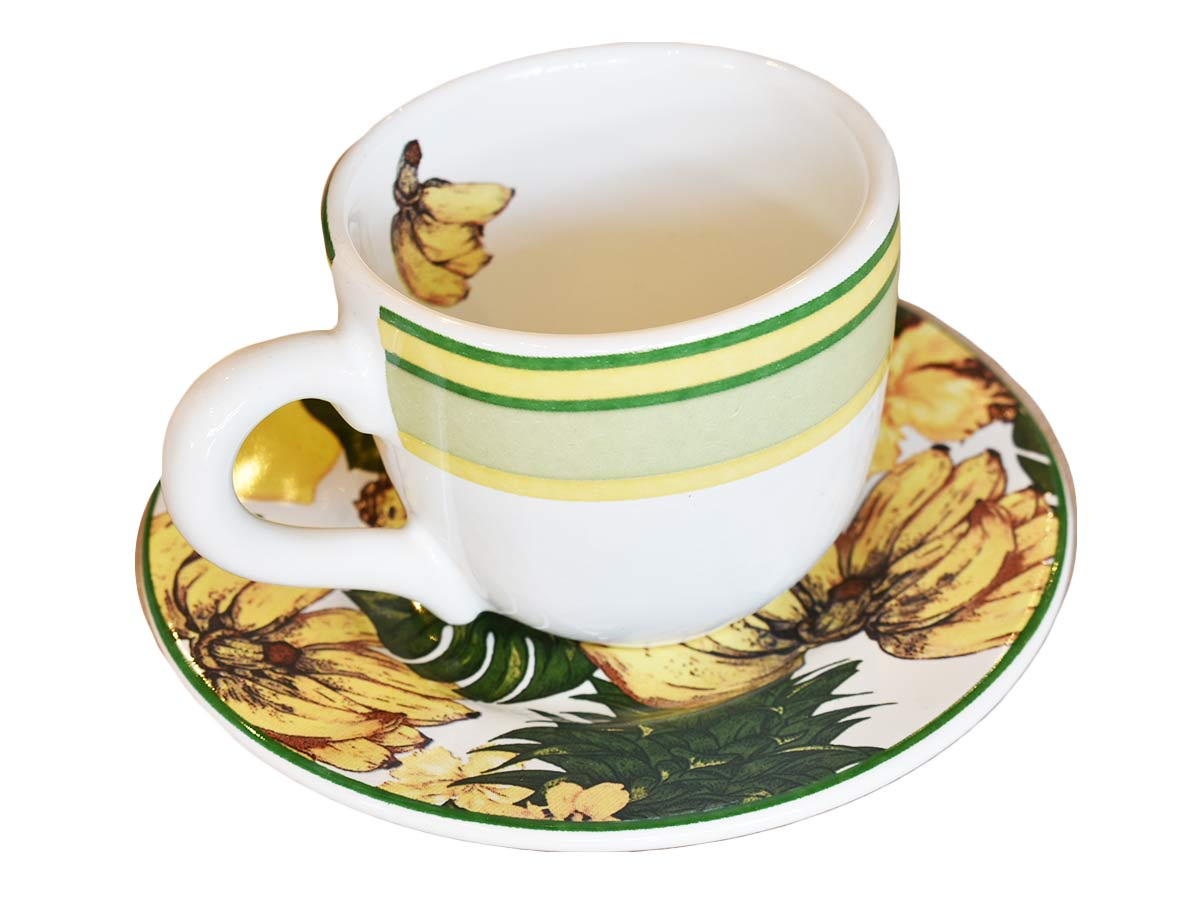 Xícara Café c/p Reto Bananas  - Lemis