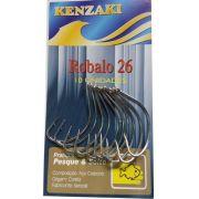 Anzol Robalo Aço Carbono Nº26 10 unidades Kenzaki