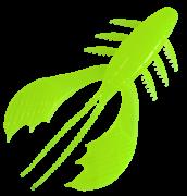 Isca Artificial CrayFish Verde Limão 10cm 5 Uindades Yara