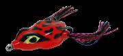 Isca Artificial Crazy Frog 5,5cm Vermelho e Preto 11,5g Yara