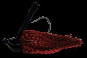 Isca Artificial Rubber Jig 7g Vermelho e Preto Yara