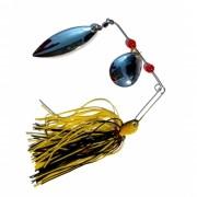Isca Artificial Spinner Bait 15g Preto/Amarelo 1/0 Spinner