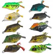 Kit 10 Isca Sapinho Frog Rã Anzol Duplo 12g 5,5cm com Estojo