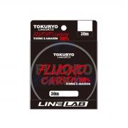 Linha Fluorocarbono 100% 1,09mm 110lb 50kg 30m Tokuryo