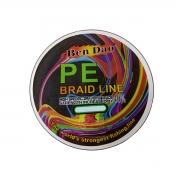 Linha Multifilamento Dyneema Multicolor PE Braid x4