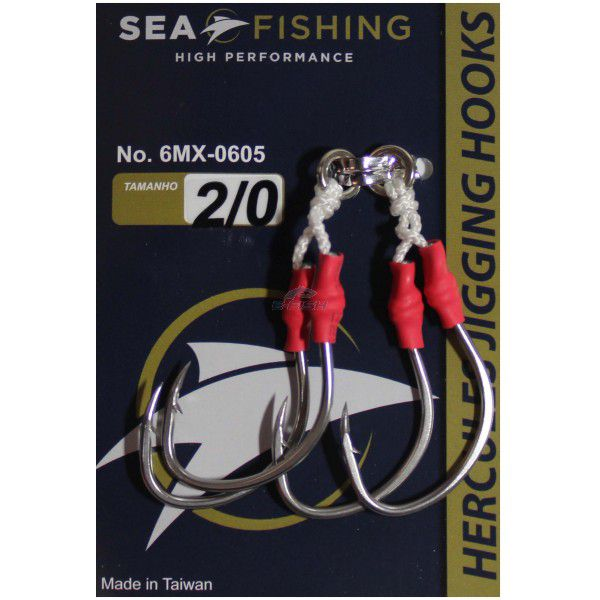 Anzol Assist Hook Slow Jigging Solid 2/0 2 Pares Sea Fishing