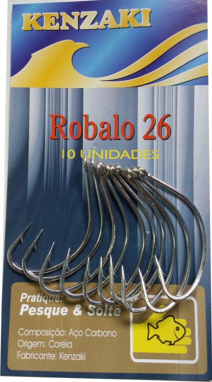 Anzol Robalo Aço Carbono Nº22 10 unidades Kenzaki
