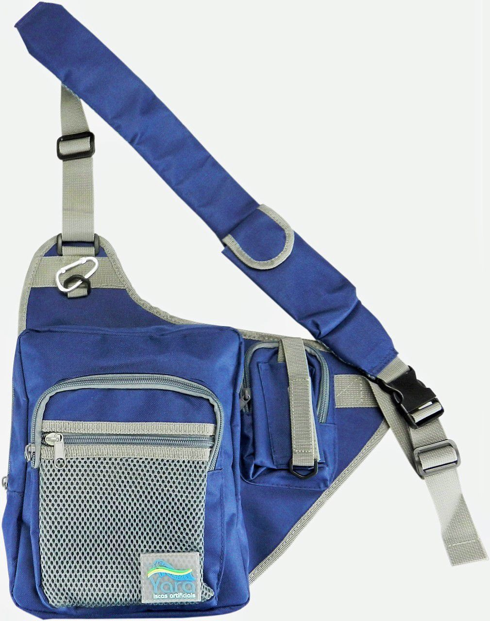 Bolsa Porta Iscas Artificiais Fishing Bag Cor Azul Yara