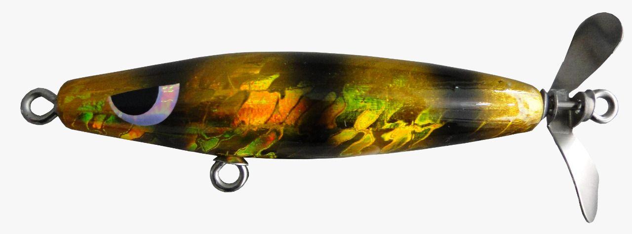 Isca Artificial Hélice Devassa 9cm Dourada 17g Yara