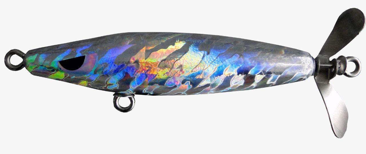 Isca Artificial Hélice Devassa 9cm Holográfica 17g Yara