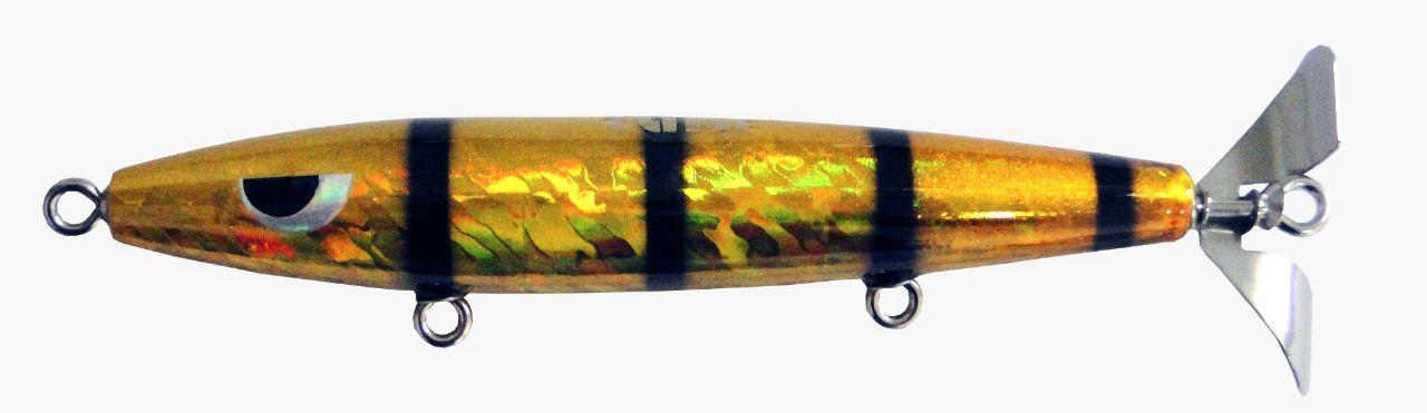 Isca Artificial Hélice Devassa 14cm Dourada 35g Yara