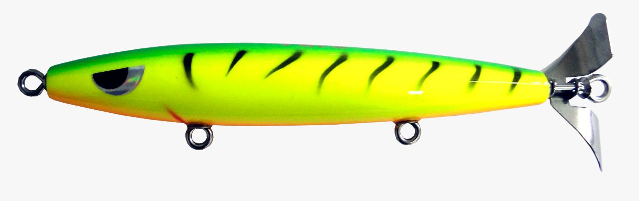Isca Artificial Hélice Devassa 14cm Fire tiger 35g Yara