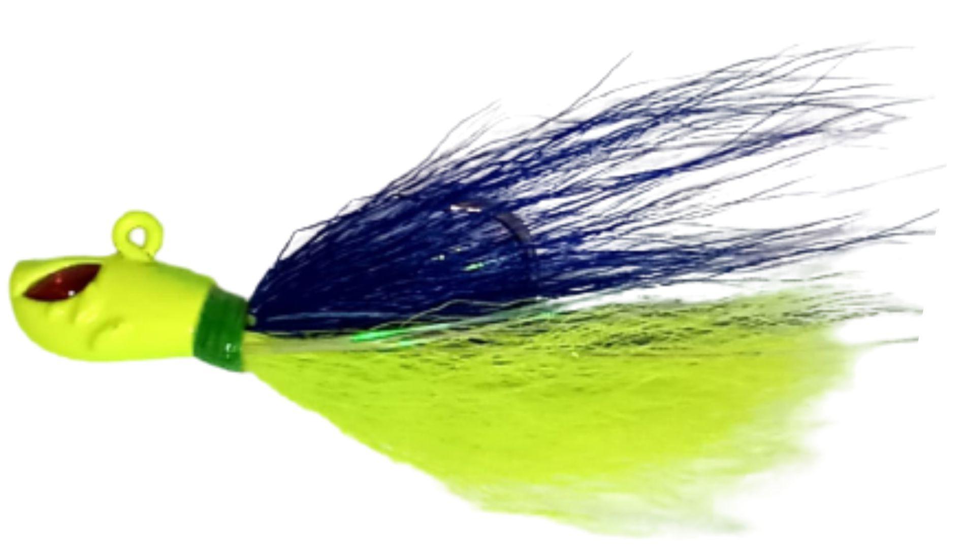 Isca Artificial Jig de Pena Killer 10g Cor 46 (Azul-Amarelo) Anzol 2/0 Yara