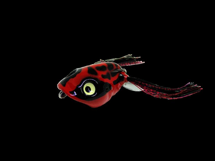 Isca Artificial Jump Frog 4,5cm Vermelho e Preto 9g Yara