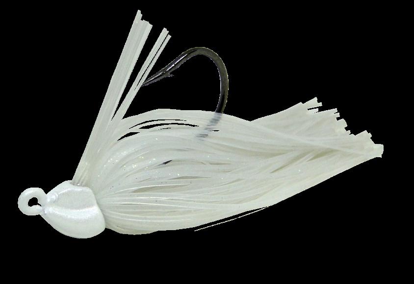 Isca Artificial Rubber Jig 10g Branco Cintilante Yara