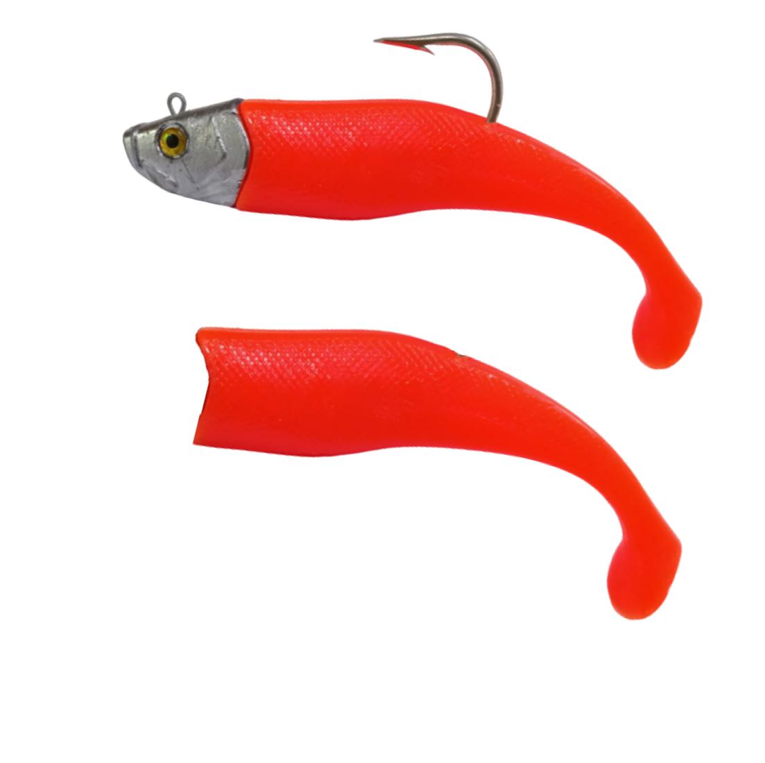 Isca Artificial Shad 400g 21cm Laranja Kruel