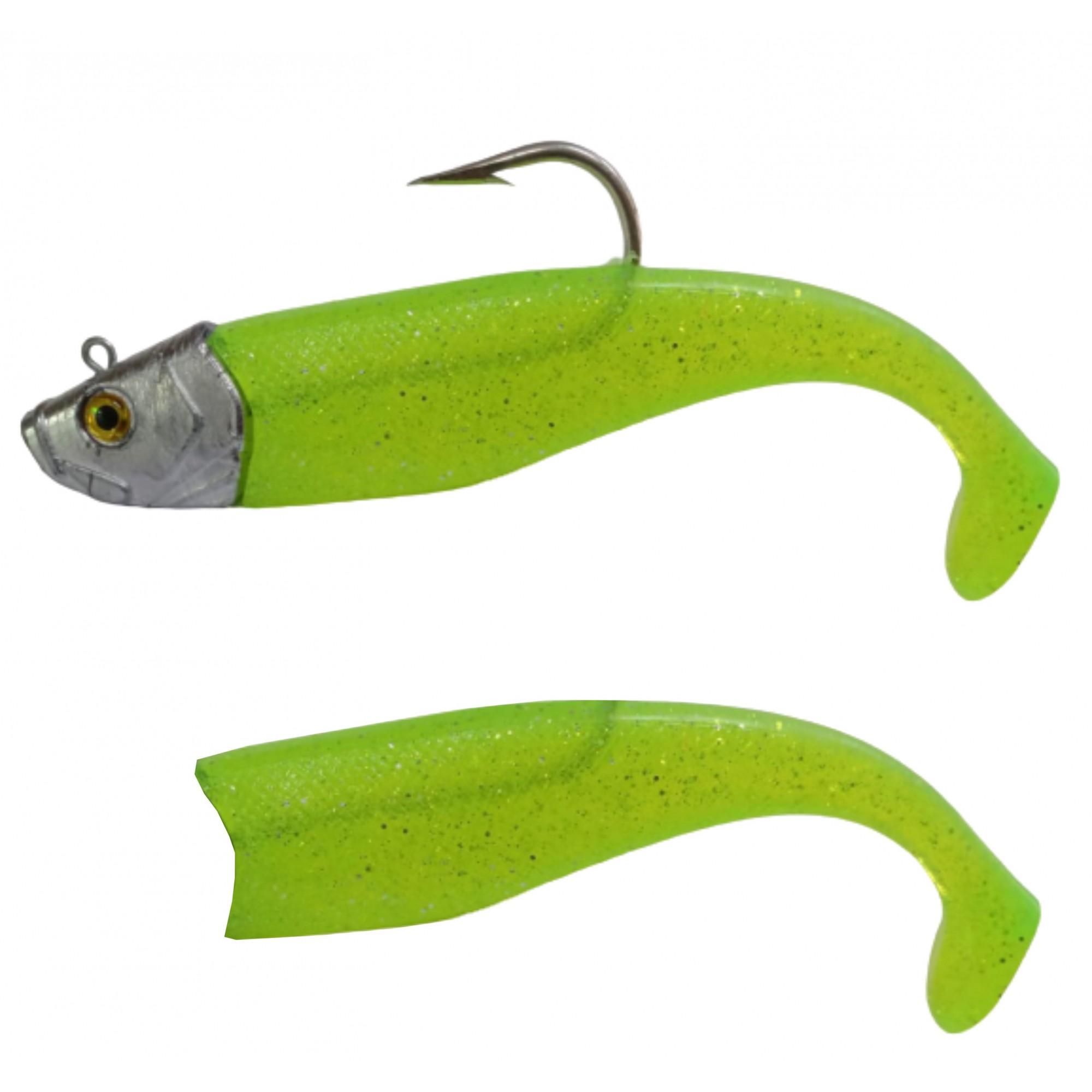Isca Artificial Shad 400g 21cm Verde Limão Kruel