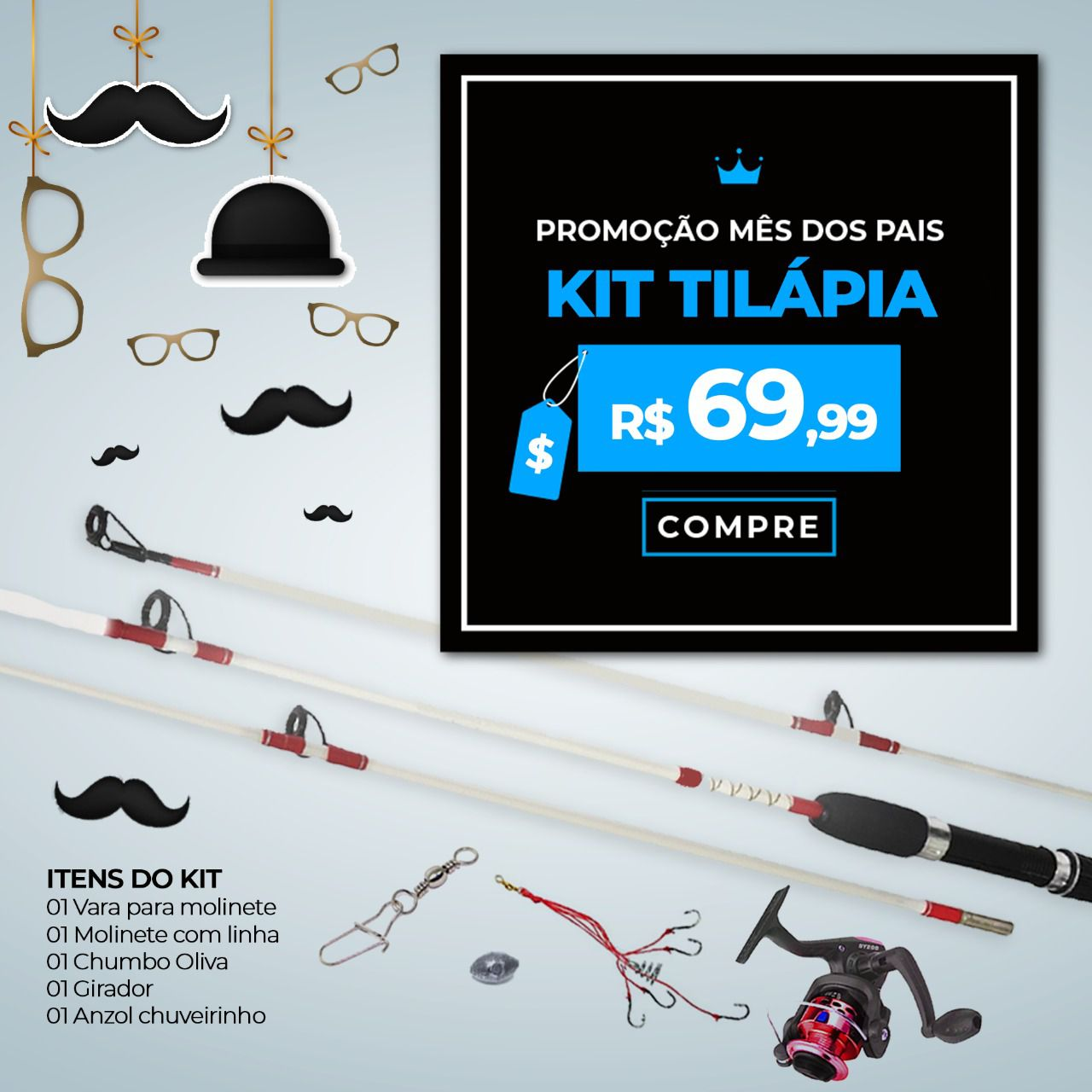 Kit Promocional para Pesca Tilápia