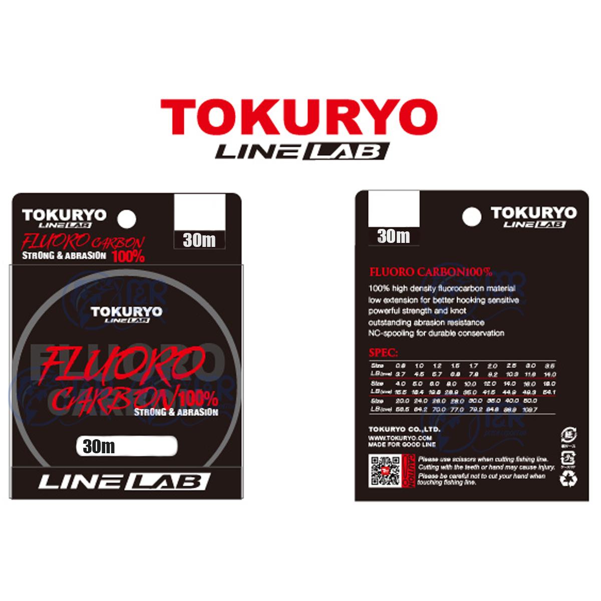 Linha Fluorocarbono 100% 0,55mm 35lb 16kg 30m Tokuryo