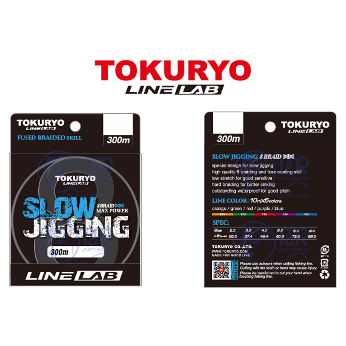 Linha Multifilamento 8 fios 0.35mm PE 4.0 22kg 300m Tokuryo