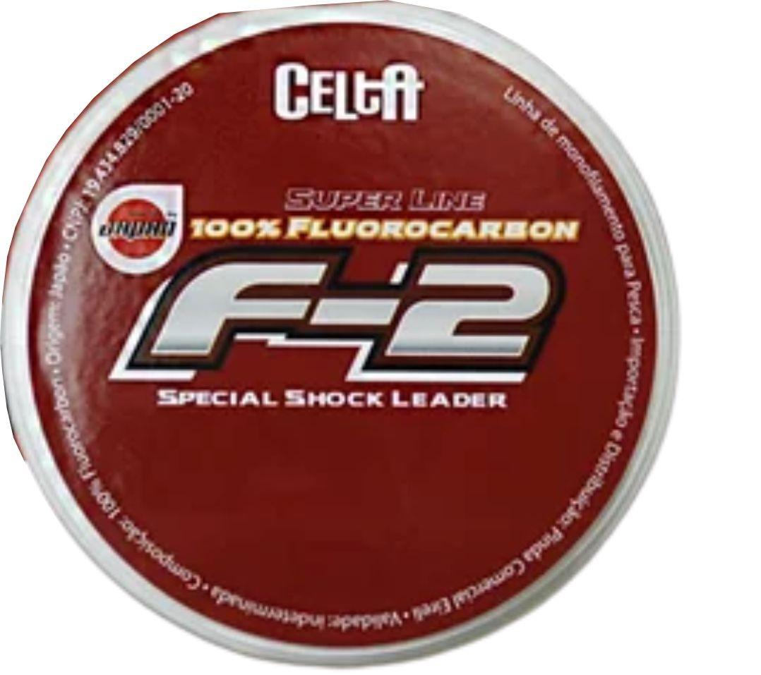Linha Shock Leader Fluorocarbono 0,44mm 25lb 60m Celta F-2