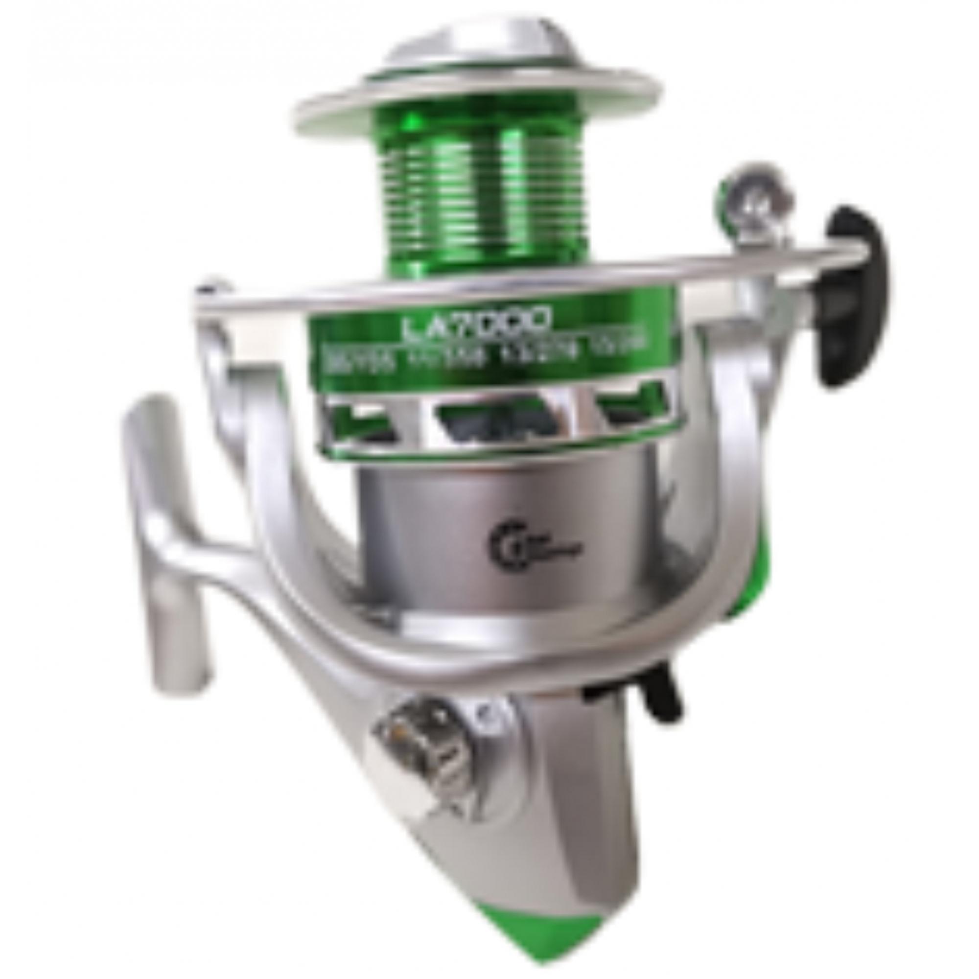 Molinete 6000 LA 6 Rolamento Carretel Alumínio Drag 6,5kg