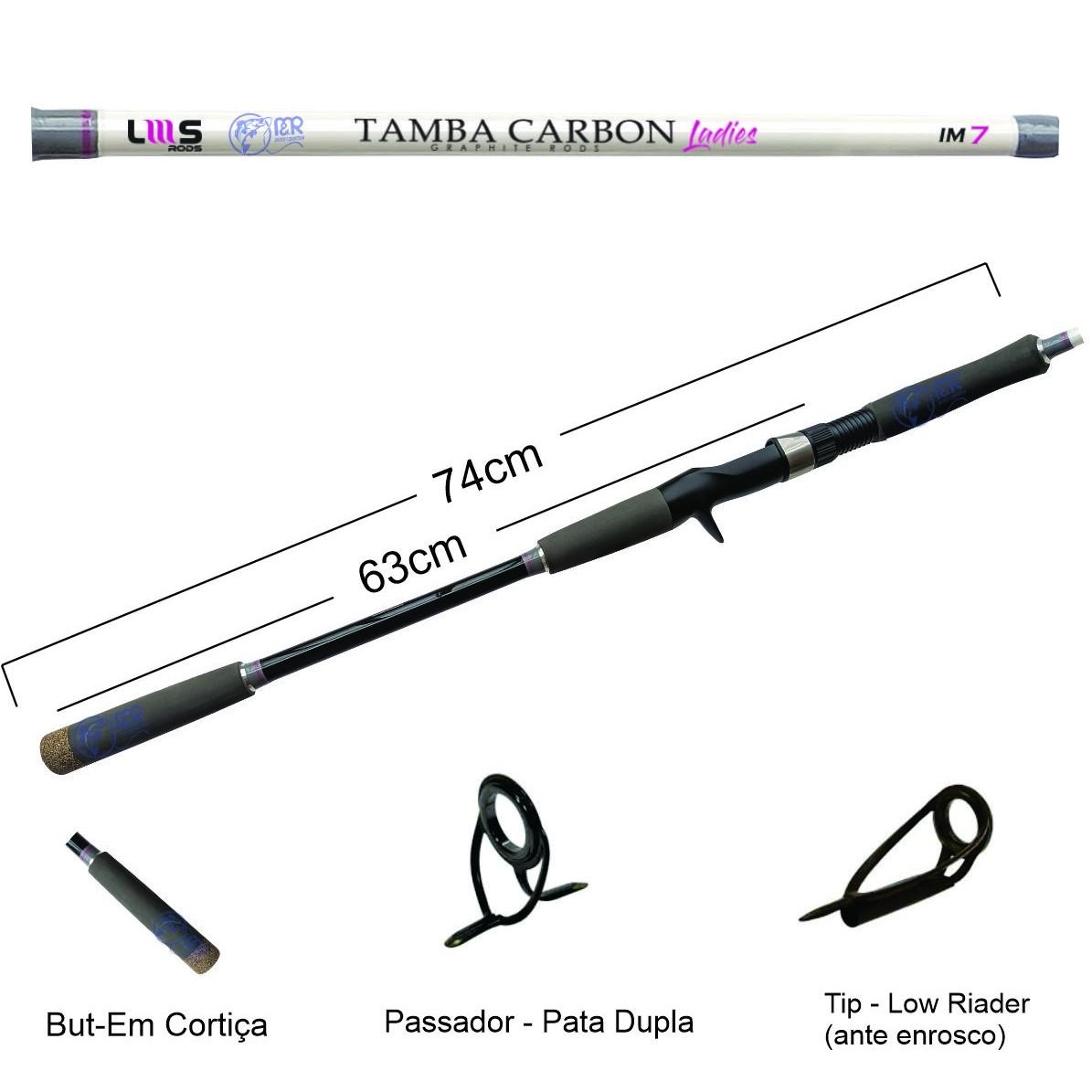 Vara Carretilha Tamba Carbon Ladies IM7 2.10m 50lb 2p Lumis