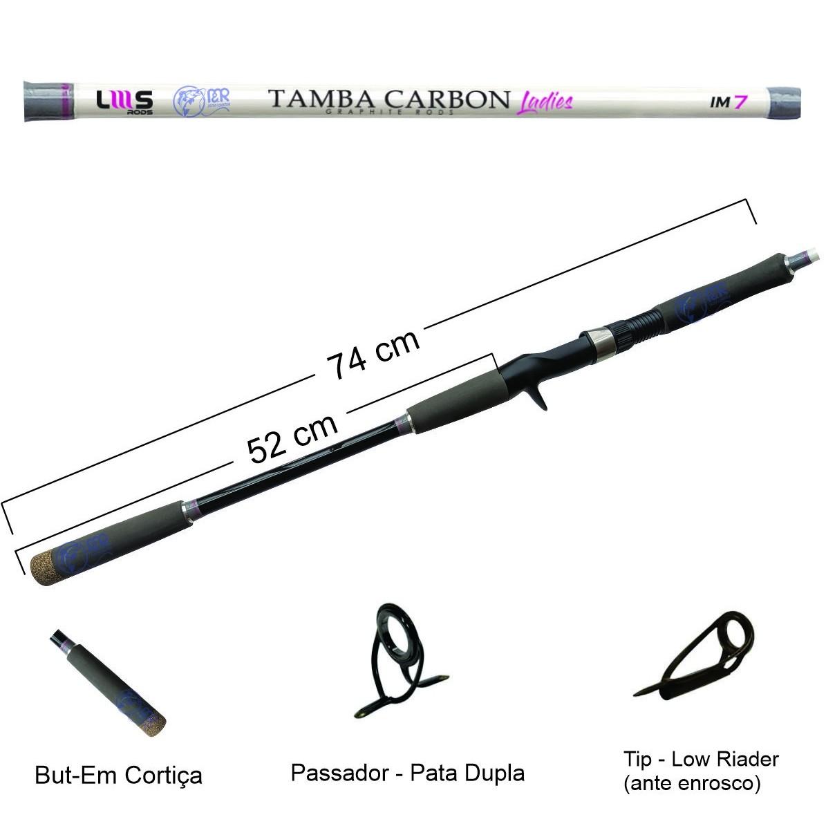 Vara Carretilha Tamba Carbon Ladies IM7 2.40m 50lb 2p Lumis