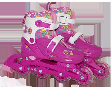 Patins Infantil Roller Feminino Capacete Acessórios 36-39BBR ... cb03a42d382