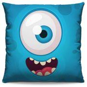 Almofada Estampada Colorida Kids Monstrinho Azul 78