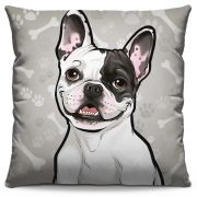 Almofada Estampada Colorida Pets Bulldog Francês 286