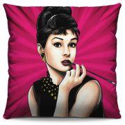 Almofada Estampada Colorida Pop Audrey Hepburn 213