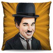 Almofada Estampada Colorida Pop Charlie Chaplin 204