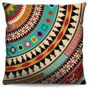 Capa de Almofada Estampada Colorida Classic Mandalas 104