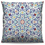 Capa de Almofada Estampada Colorida Classic Mandalas 114