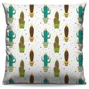 Capa de Almofada Estampada Colorida Florata Cactus 232