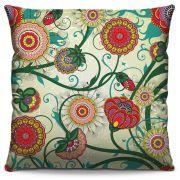 Capa de Almofada Estampada Colorida Florata Flores 05