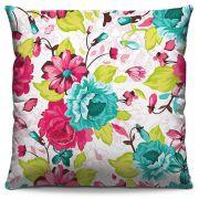 Capa de Almofada Estampada Colorida Florata Flores 255