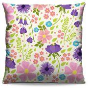 Capa de Almofada Estampada Colorida Florata Flores 273
