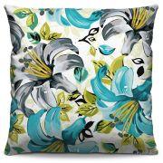 Capa de Almofada Estampada Colorida Florata Flores 326