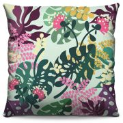 Capa de Almofada Estampada Colorida Florata Folhas 281