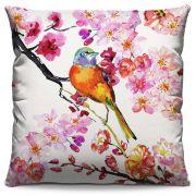 Capa de Almofada Estampada Colorida Florata Pássaro 252