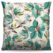 Capa de Almofada Estampada Colorida Florata Pássaros 142