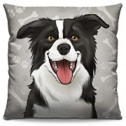 Capa de Almofada Estampada Colorida Pets Border Collie 285