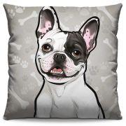 Capa de Almofada Estampada Colorida Pets Bulldog Francês 286