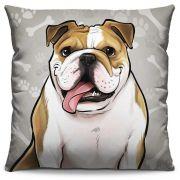 Capa de Almofada Estampada Colorida Pets Bulldog Inglês 287
