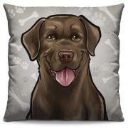 Capa de Almofada Estampada Colorida Pets Labrador 291
