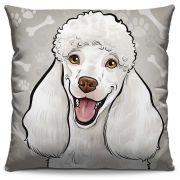 Capa de Almofada Estampada Colorida Pets Poodle 296