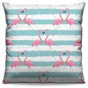 Capa de  Almofada Estampada Colorida Pop Flamingos 128