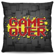 Capa de Almofada Estampada Colorida Pop Game Over 185